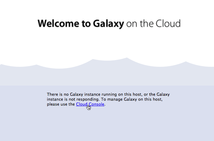 Galaxy not running yet; click to enlarge