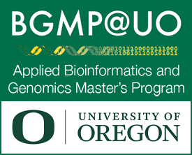 University of Oregon Applied Bioinformatics and Genomics Masters Program and the Knight Campus for Accelerating Scientific Impact