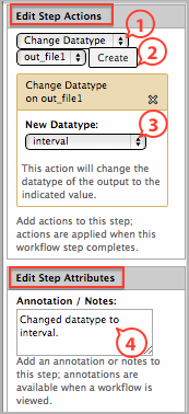 workflow editor datatype edit