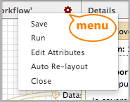 workflow editor menu detail