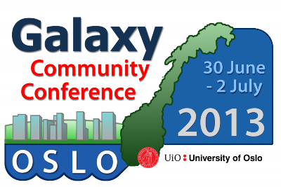 2013 Galaxy Community Conference (GCC2013), Oslo, Norway, 30 June - 2 July, 2013