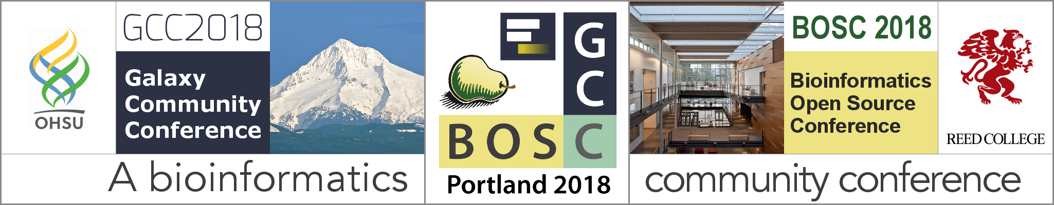GCC2018 + BOSC 2018: The Bioinformatics Community Conference