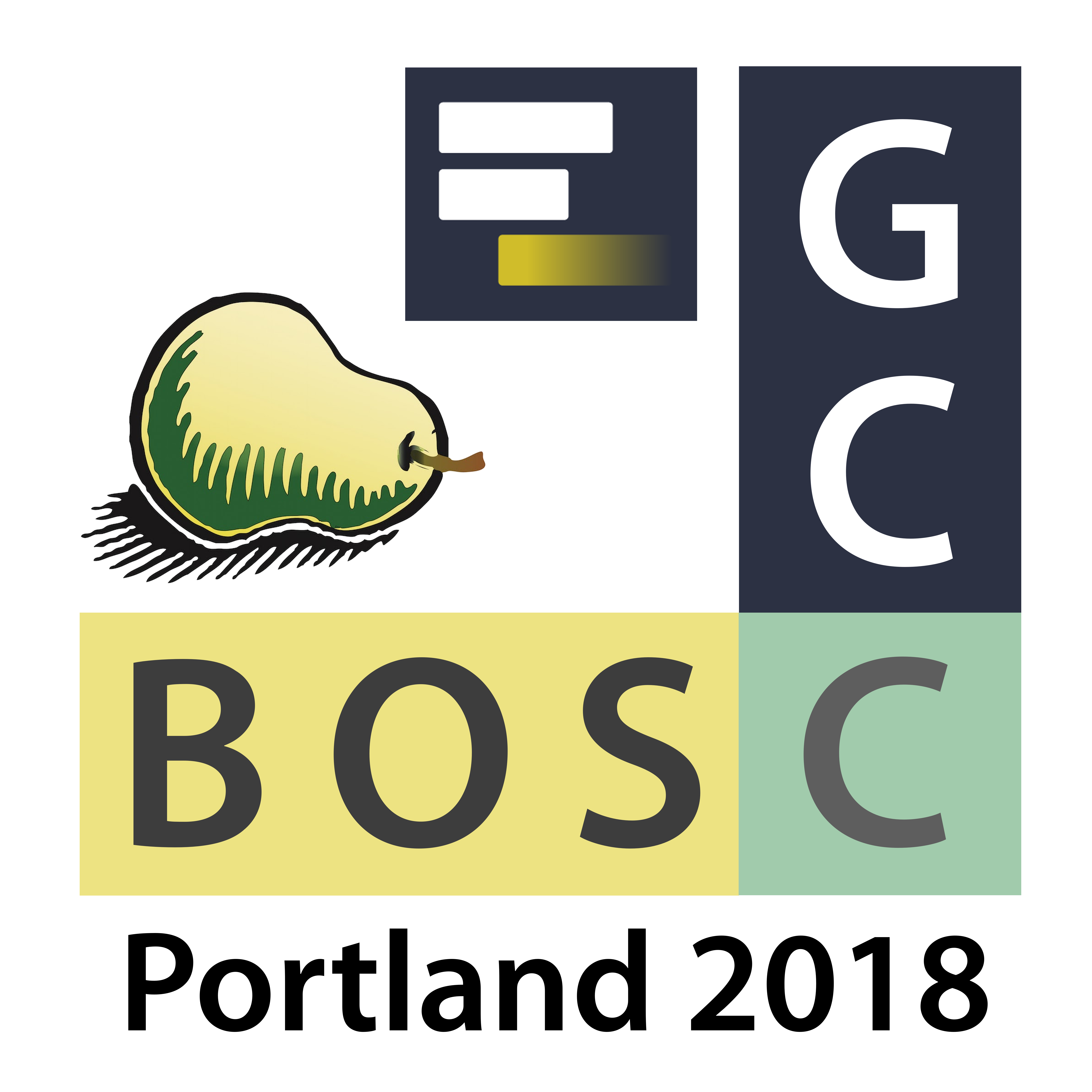 GCC2018 + BOSC 2018 Conference Logo, big