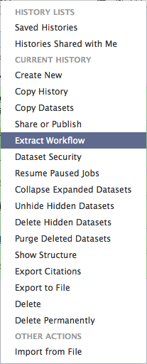 Extract workflow