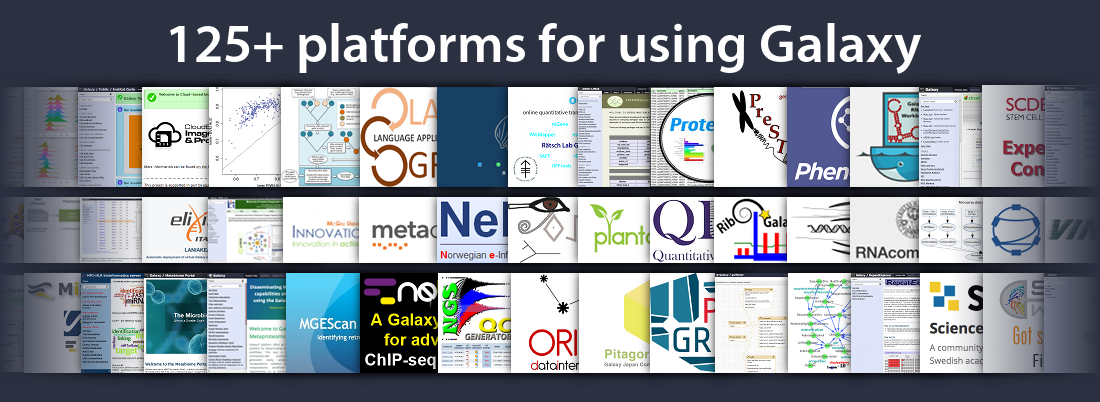 125+ platforms to use Galaxy on